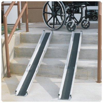 Brigg Healthcare 5' Telescoping Wheelchair Ramp with Carry Bag Ramp