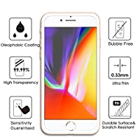 TIQUS iPhone 8 Plus iPhone 7 Plus Screen Protector Tempered Glass Film for Apple iPhone 8 Plus / 7 Plus [Case Friendly] [2Pack] by Shijihuaxia
