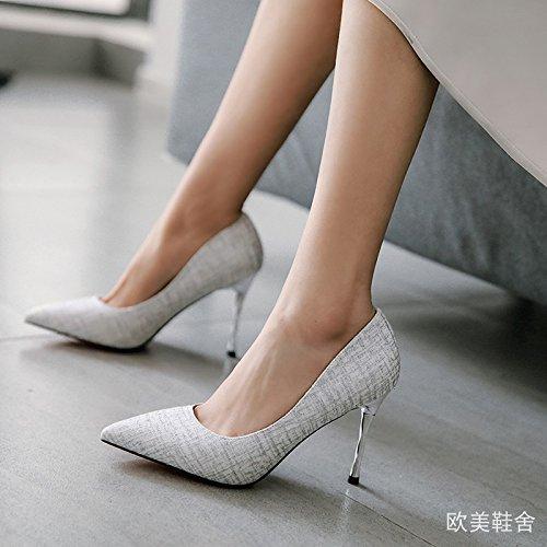Kphy Hauts Mode Silvery Talons Chaussures Minces Demoiselle Pour D'honneur De 9cm Soire Femmes Pointus thirty Crapauds Avec six 77qwBrO