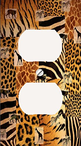 Safari Shadows Print Decorative Outlet Cover (Safari Print Selection)