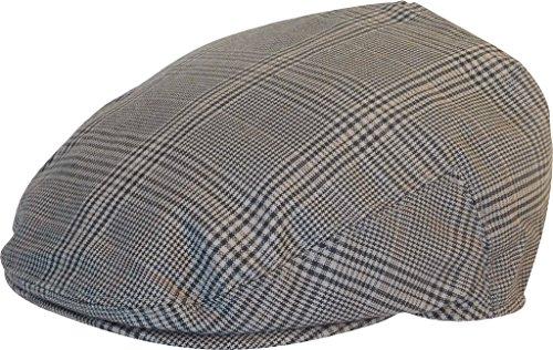 (Summer Plaid Ivy Scally Driver Cap Polyester Flat Hat (Steel Gray/Medium))