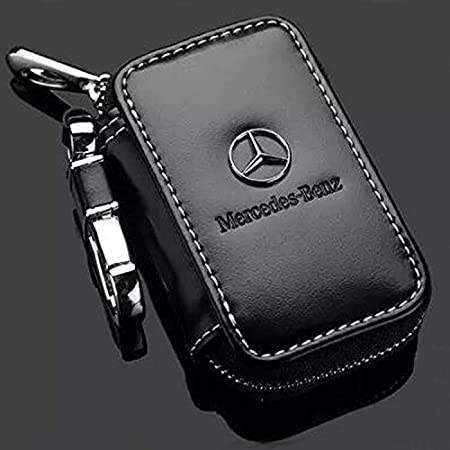 Bearfire Leather Car Key Case Remote Control package Auto Key Chains for KIA Lexus Mazda (Toyota)