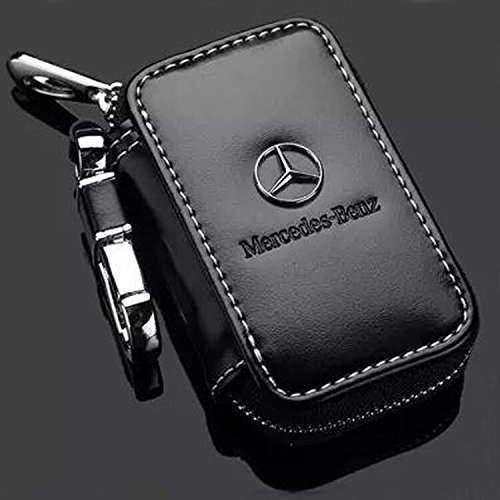 - Leather Car Key Case Remote Control package Auto Key Chains (benz)