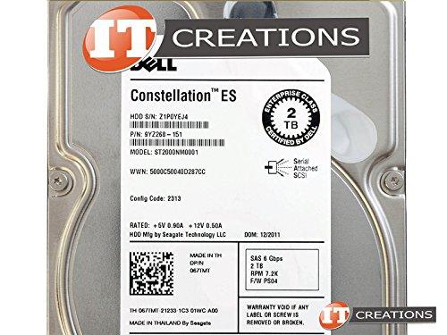 DELL ST2000NM0001-DELL CONSTELLATION ES.1 2TB 7.2K 6G SAS LFF HARD DRIVE