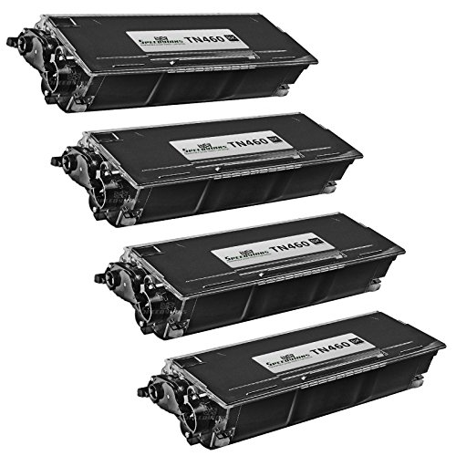 Speedy Inks - 4pk Compatible Brother TN460 HY Black Laser Cartridge Unit TN460 for use in HL-1030, 1230, 1240, 1250, 1270n, 1435, 1440, 1450, 1470n, P2500, MFC-2500, Intellifax 4100, 4750e, (Tn460 High Yield Compatible Laser)