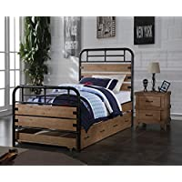 ACME Adams Antique Oak Twin Bed