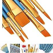 AOOK conjunto de 10 pincéis de pintura profissional pincéis para pintura acrílica a óleo de aquarela, 1-pack,