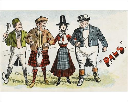 10x8 Print of Pals - National Archetypes (Costumes Online Ireland)