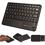 "TECHGEAR® [Active Strike Pro (Mini)] Slim Bluetooth Wireless UK QWERTY Keyboard with Mouse Touchpad for Amazon Fire 7"" tablets (+ Free Keyboard Carry case)"