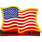 """American Flag Wavy September 11th 2001 Patch 3"""""""