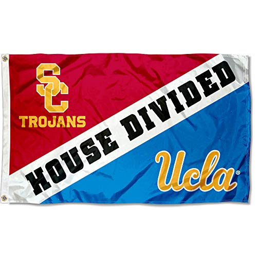 College Flags and Banners Co. Flag for Divided House - USC vs. UCLA