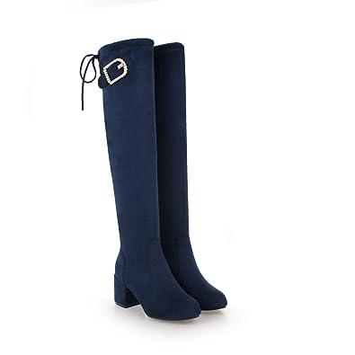 Scarpe da donna stivali al ginocchio blu | Acquisti Online