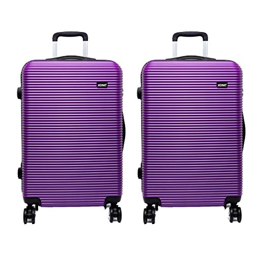2pcs Kono Luggage Trolley Case Hard Shell 4 Wheel Spinner Holiday Travel Business Trip Suitcase for British Airways Easy…