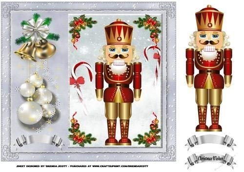 Christmas Nut Cracker by Brenda Scott Craftsuprint