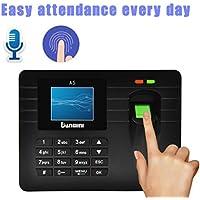 Ikevan Advanced TFT Fingerprint Time Clock Attendance Clock Employee Payroll Recorder