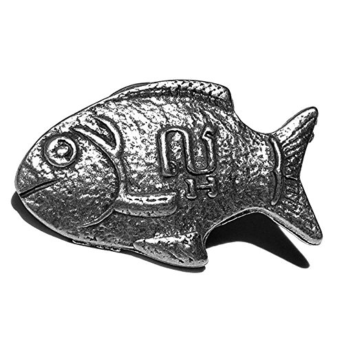 Lucky Iron Fish Supporter Pin Silver ()