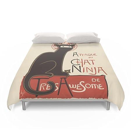 Society6 un francés Ninja Cat (Le Chat Ninja) Juego de funda ...