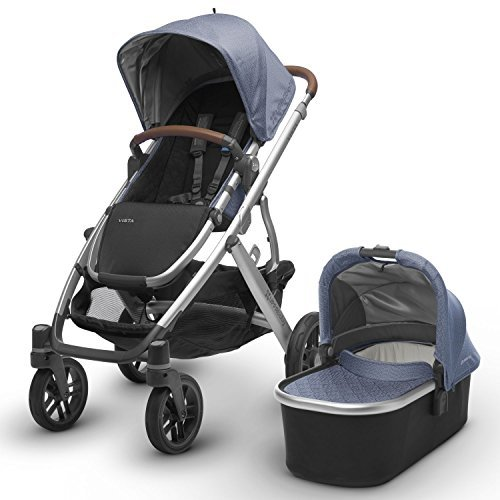 2017 UPPAbaby Vista - Henry (Blue Marl/Silver/Saddle Leather)