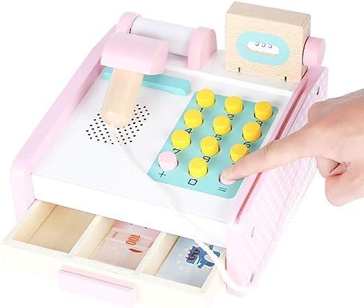 SU Simulación Infantil Caja registradora Juguete de Madera 3-6 ...