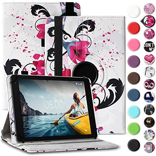Nauci Tablet Hülle kompatibel für Medion Lifetab E10430 E10414 Tasche Schutzhülle Case Universal Cover Standfunktion 360…