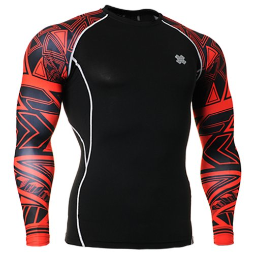 Fixgear Homme Femme Compression Performance Black Baselayer Gear Top