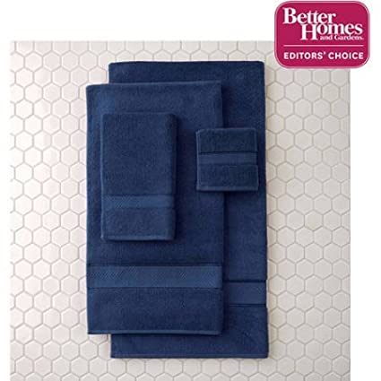 Better Homes and Gardens Thick and Plush Bath Towel Collection - 6 Piece Bath Towel, Blue Admiral