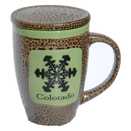 Colorado Snowflake Mug with Lid in Avocado Green ()