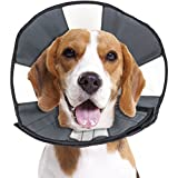 ZenPet ProCone Pet E-Collar for Dogs and Cats - Comfortable Soft Recovery Collar is Adjustable for a Secure and Custom Fit - Easy for Pets to Eat and Drink - Works with Your Pet's Collar - Medium