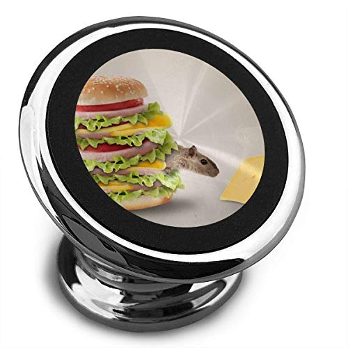 Universal Magnetic Phone Car Mounts Magnet Holder Mouse Hamburger Like Cheese Magnetic Mount for Phone 360° Rotation