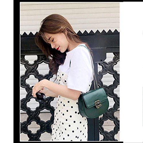 Lf Cadena Moda La Femenino Retro Hebilla Fashion Paquete Bag De Nueva Diagonal Ternera qqR1Hwr