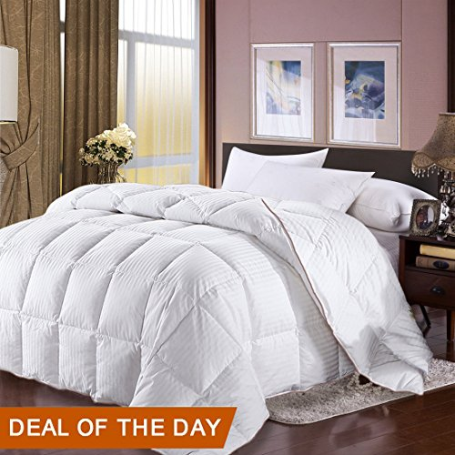 Full Queen Size Duvet Insert Goose Down Comforter 100% Egyptian Cotton Cover Duvet White Down Comforters Full Size Hotal Lightweight Hypoallergenic Duvet Insert All Season Comforters Clearance
