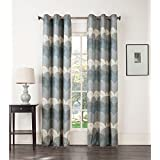 "Sun Zero 45575 Finnick Thermal Lined Grommet Curtain Panel, 40 x 63"", Navy"