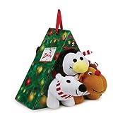 Zanies Plush Snowy Night Dog Crew Toy Gift Pack, 3-Pack, My Pet Supplies