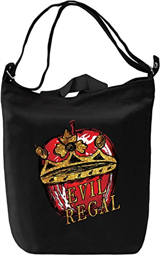 Evil Regal Borsa Giornaliera Canvas Canvas Day Bag| 100% Premium Cotton Canvas| DTG Printing|