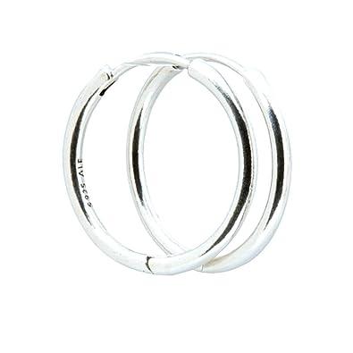 988db25aacde Pandora Earrings 290586 Silver Hoop Women  Pandora  Amazon.co.uk  Jewellery