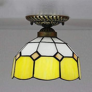 Lámpara de techo de estilo Tiffany, lámpara de techo de ...
