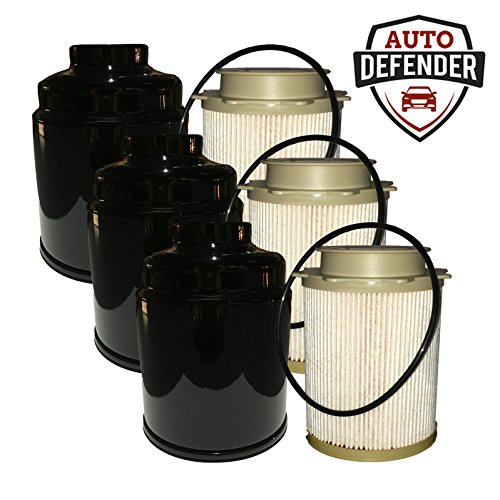 Auto Defender Fuel Filter Water Separator set for Dodge Ram 6.7L Cummins Turbo Engines (3 Sets) by Auto Defender