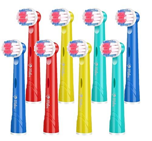 Recharge Brosse à Dent Oral B Électriques Enfants Milos (Pack de 8), Compatibles avec Oral B Brossette de Rechange…