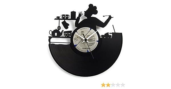 Reloj de pared ideal para la cocina, cocinero, irresistible para un chef, Reloj original Vinyluse: Amazon.es: Hogar