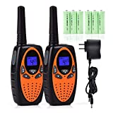 #9: Funkprofi Walkie Talkies for Kids 22 Channels Long Range Rechargeable Walkie Talkies with Rechargeable Battery and Charger, Best Birthday Gift for Boys and Girls, 1 Pair
