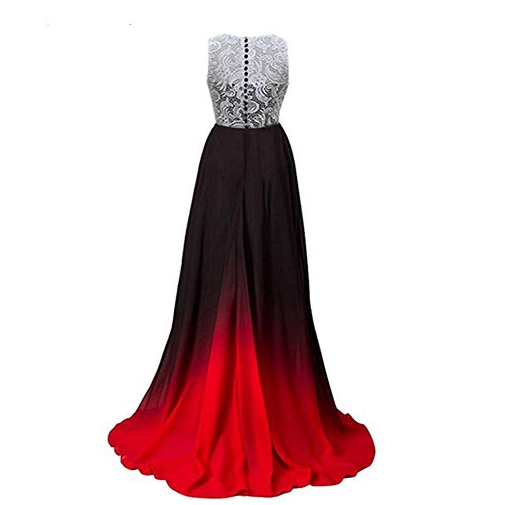 3 Women's Sexy Gradient Lace Evening Dresses Formal Party Dress Longo Dress