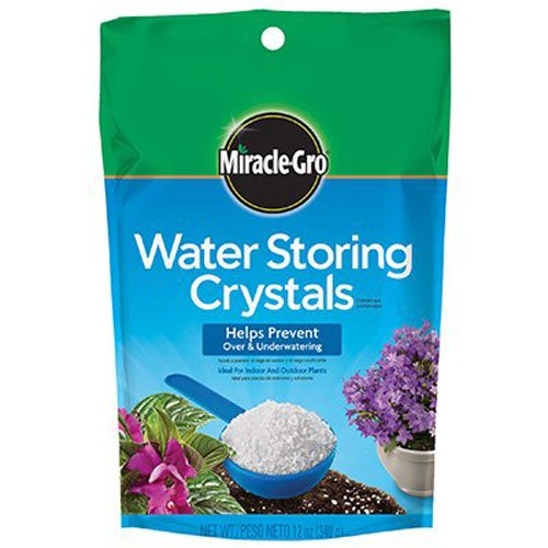 - Miracle-Gro Water Storing Crystals, 12-Ounce