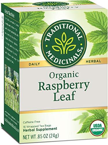 Traditional Medicinals Organic Raspberry Leaf Tea, 16 Count, Pack of 6 (Medicinal Tea Period)