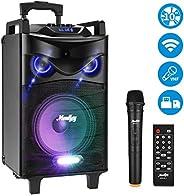 Moukey Karaoke Machine,520 Watt Peak Power Outdoor Portable Wireless Connection Karaoke Speaker System-PA Ster