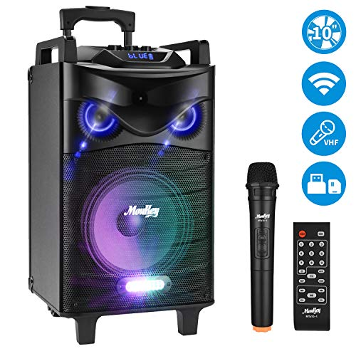 Moukey 520 Watt Outdoor Portable BT Connectivity Karaoke Speaker System Machine for Adults- PA Stereo with 10