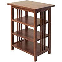 Manchester Wood Mission 3-Shelf End Table - Chestnut