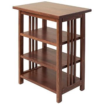 Manchester Wood Mission 3 Shelf End Table   Chestnut