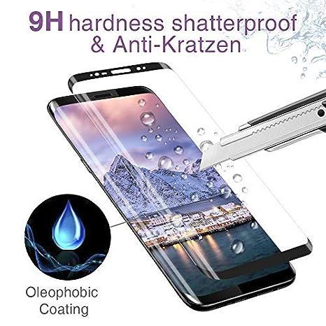 CRXOOX Protector de Pantalla para Samsung Galaxy S8 Plus, Anti-Aceite, Arañazos, Ampollas y Huellas Dactilares, HD, Dureza 9H, 0.33 mm: Amazon.es: ...