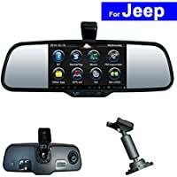 SZSS-CAR Touch Screen Car Rear View Mirror DVR GPS Bluetooth WIFI for Jeep Compass Wrangler Patriot Grand Cherokee Android Auto Monitor