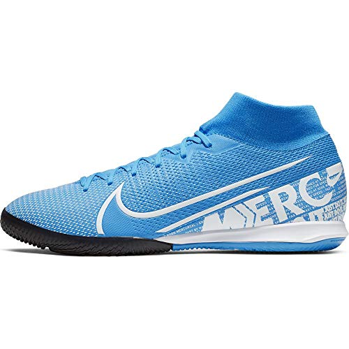 Mercurial Superfly 7 Academy IC Indoor Soccer Shoes- Blue/White (9)